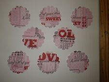 20 Fiskars 2 inch Valentine Scalloped Circle Paper Die Cut Punches Confetti