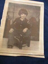 Scott Kearns of Boston when he was two years old Wire Press Photo