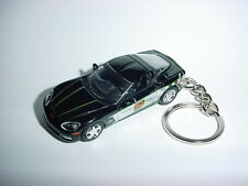 3D BLACK CHEVROLET CORVETTE INDY PACE CAR CUSTOM KEYCHAIN keyring key