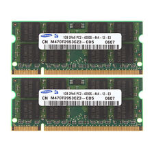RAM For Samsung 2GB 2X 1GB DDR2 2RX8 PC2-4200 533mhz 200pin SODIMM Laptop Memory