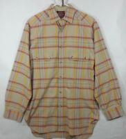 VTG Willis & Geiger Plaid Cotton Flannel Shirt Fits M L