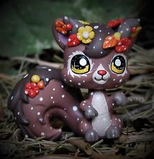 Littlest Pet Shop Forest Spirit Faun OOAK custom figure LPS chibi Leaves flowers