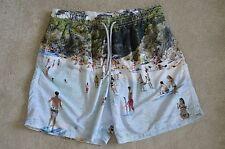 "Vilebrequin Beach Sea Sand Paddle scène Homme Natation shorts Trunks Taille XXL 34"""
