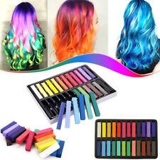 24 Hair Dye Easy Temporary Colours Hair Chalk Soft Pastels Hair Colour Salon