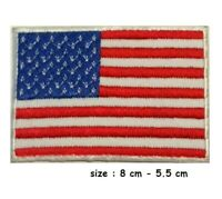 USA Flag Embroidered Iron / Sew On American Patch United States of America Badge