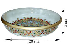 White Marble Bowls beautiful Handcrafted  emboss painting ethnic artifacts bowl