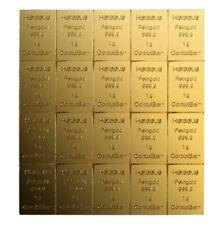 10 x 1g 10 Gramm Goldbarren Feingold 999,9 Gold Barren Heraeus CombiBar
