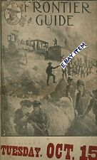 1907 PAWNEE BILL WILD WEST Far West and Near East CORSICANA TEXAS Program GUIDE