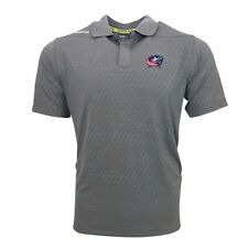 Columbus Blue Jackets Reebok Men's Grey Center Ice Speedwick Perf. Polo Shirt