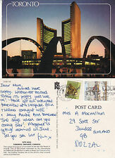 1980's CITY HALL TORONTO ONTARIO CANADA COLOUR POSTCARD