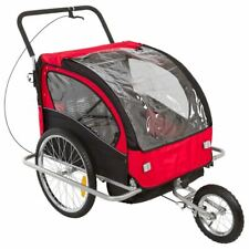 Double Toddler Kids Stroller & Small Children Bicycle Tow-Behind Trailer Bt-502