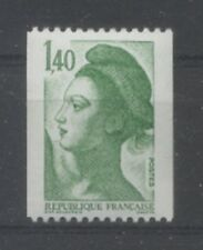 FRANCE TIMBRE ROULETTE  2191a N° rouge au verso LIBERTE vert - LUXE **
