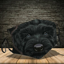Black Russian Terrier Dog Lover Face Mask Adult Face Mask 3D Reusable