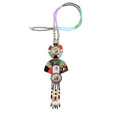 Bead Tassel Vintage Tibetan Colorful Charm Totem Pendant Long Necklace For Women