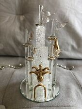 Brand new large Princess Castle crystal glass keepsake with gold details