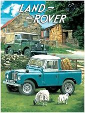 Land Rover, Off Road 4x4 Pickup Classic/Vintage Car Small Metal/Tin Sign Picture