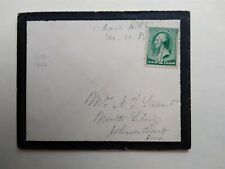 Pennsylvania: Manor Hill 1888 #213 Mourning Cover, Ms, Dpo Huntingdon Co