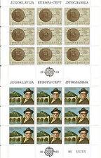 YUGOSLAVIA EUROPA cept 1983 Sin Fijasellos MNH  - Hoja bloque / Souvenir Sheet