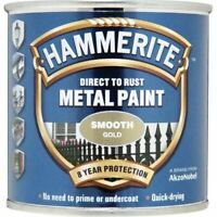 HAMMERITE DIRECT TO RUST METAL PAINT SMOOTH GOLD 250ML 5084847 TOP ITEM