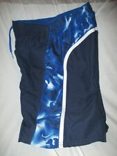 Vintage Men's Small NIKE Swim Swoosh Navy Blue Swimsuit Bathing Suit Surfing