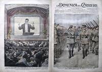 Domenica del corriere 1919-45 IL GEN DIAZ PASSA IN RIVISTA LA GUARDIA D'ONORE