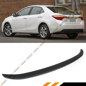ABS OE JDM SPORT FLUSH FIT TRUNK LID SPOILER WING FOR 2014-2019 TOYOTA COROLLA