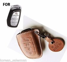 Handmade Italy Leather Holder Car Remote Key case / Hyundai Tucson Sonata/Fob