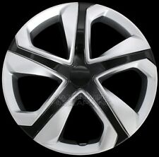 "15"" Set of 4 Silver Black Wheel Covers Snap On Hub Caps fit R15 Tire & Steel Rim"