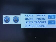1/18 Maine State Police decals Ford Crown Vic Explorer Utility Charger Trooper