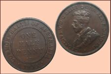 Halfpenny 1933, Chocolate Brown  .....  A/UNC