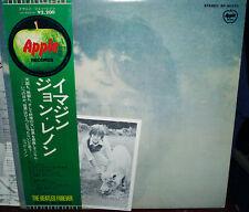 """JOHN LENNON """"Imagine"""" Japan Lp w/APPLE POSTer, POSTCARD Pic Forever Obi, BEATLES"""