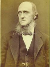 CDV: DISTINGUISHED OLDER MAN W WHISKERS AND LG CHIN BEARD, Boston, MASSACHUSETTS