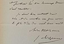 Le peintre Jules Richomme sollicite un acompte pour sa commande de l'Etat.