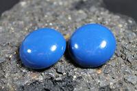 Vintage 70er 60er Sängerform Ohrringe Ohrclips Traude Sänger Modeschmuck blau