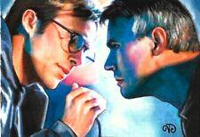 ACEO Original ~ Jack O'Neill & Daniel Jackson ~ Stargate 1