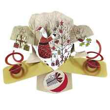 Santa Tree Petite Christmas Pop-Up Greeting Card Second Nature 3D Pop Up Cards