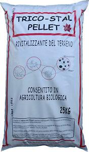 TRICO-STAL PELLET BIO - STALLATICO PELLETTATO con MICORRIZZE RIVITALIZZANTE 25Kg