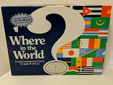 Where in the World Geography Game, Great Learning Fun, Excellent, Complete