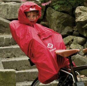 Hamax Regen Poncho für Kinder in Kinder Sitz ROT NEU
