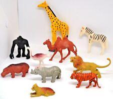 Lot of 10 Jaru Brand African Plastic Animal Action Figures/Toys