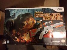 Cabela's Dangerous Hunts 2011 with Top Shot Elite - Nintendo Wii Brand New