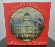 "Thomas Kinkade ROUND Jigsaw puzzle ""FLAGS OVER THE CAPITOL""  by Ceaco 750 PCS"