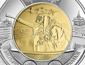 2016 Canada $2 Toonie 75th Anniversary of The Battle of The Atlantic BU