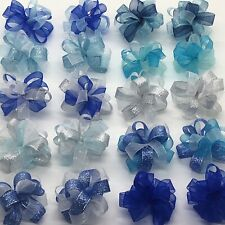 Bubble Dog Bows Pet Grooming Holiday Winter Blues Glitter Top knot ear Qty 20