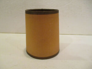 Vintage  Brown paper Small Clip On Lamp Shade New Old Stock  in Good Condition