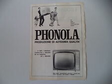 advertising Pubblicità 1963 TELEVISORE PHONOLA MOD. 2336