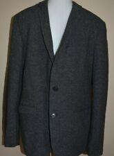 Mens SISLEY Tweed Blazer 50 Jacket Suit Coat 2 Button Front