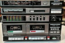Rare Vintage Sony HST-700W Stereo Deck Receiver  Hi-fi Stacking System tested