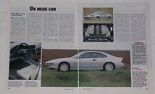 Article Articolo 1992 BMW 850i SERIE 8 E31