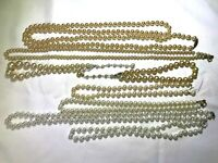 Vtg Single Strand Faux Pearl Necklaces Sarah Coventry Set of 8 Choker Med Long